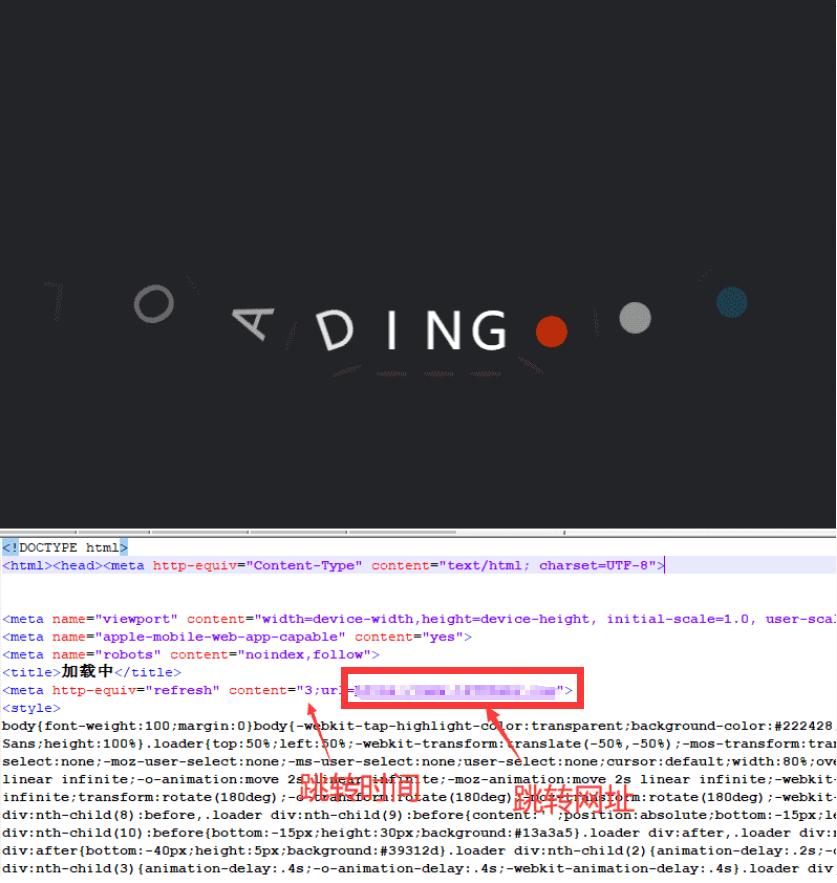 非常好看的动态的页面跳转html源码-云奇网