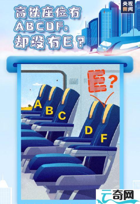 为什么高铁座位号没有E-云奇网