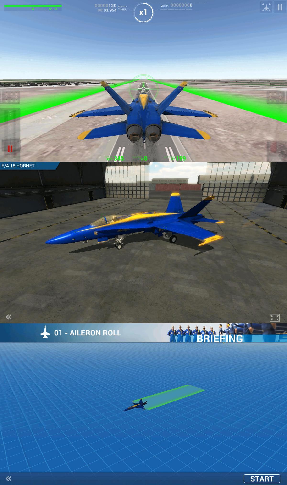 安卓手机飞行游戏 蓝色天使特技飞行-云奇网
