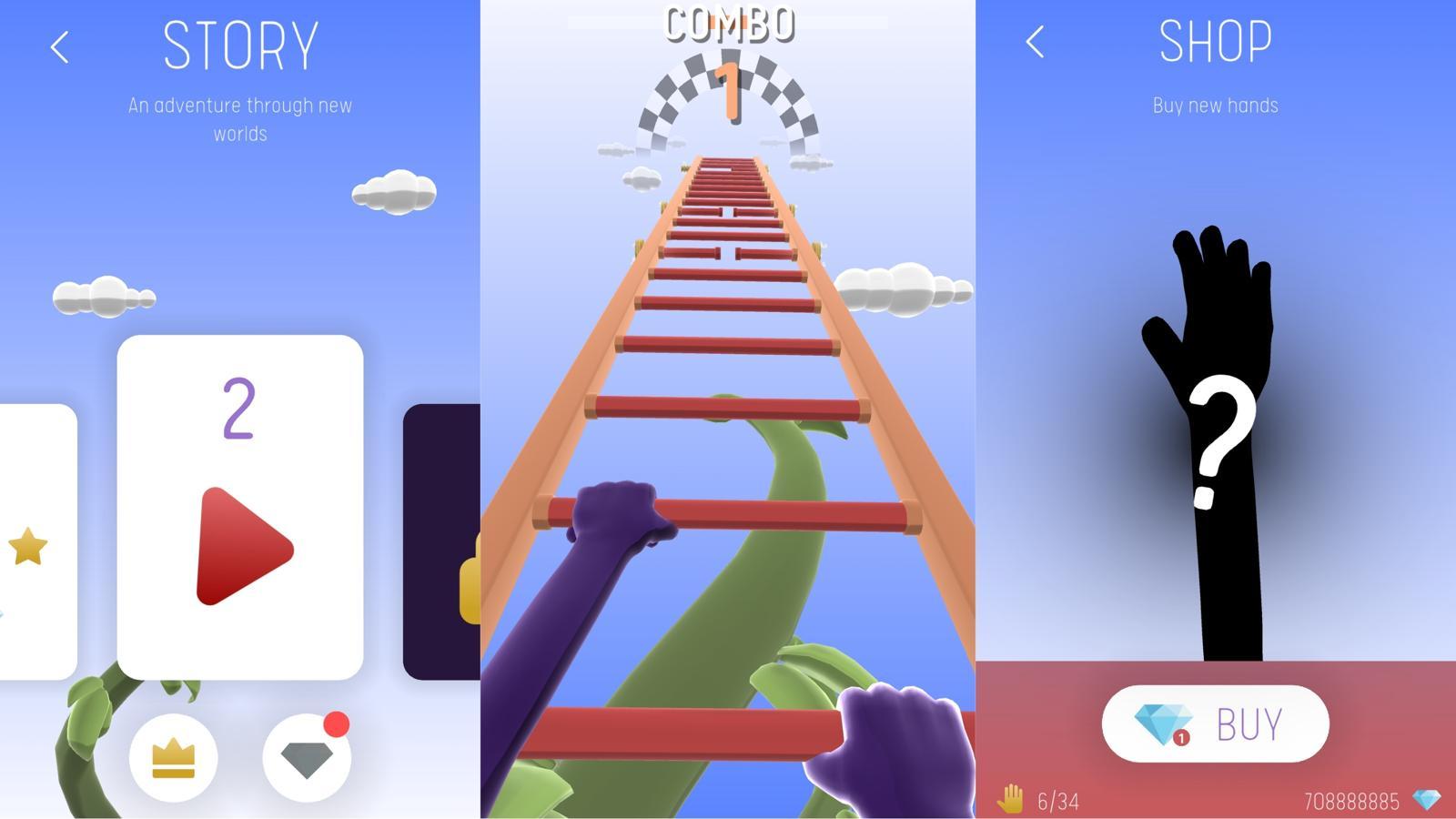 安卓手机动作闯关游戏 爬上梯子-云奇网