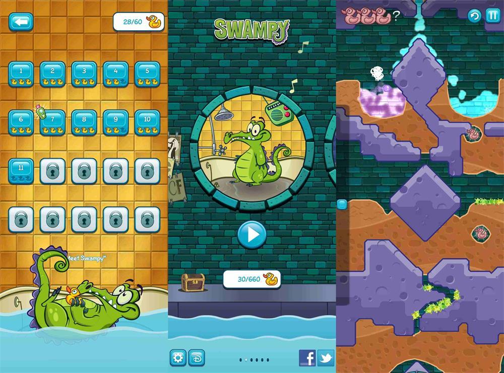 趣味的益智游戏 小鳄鱼爱洗澡-云奇网