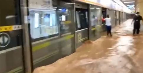 暴雨地铁站会被淹么2