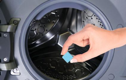 全自动洗衣机怎么用泡腾片清洗3