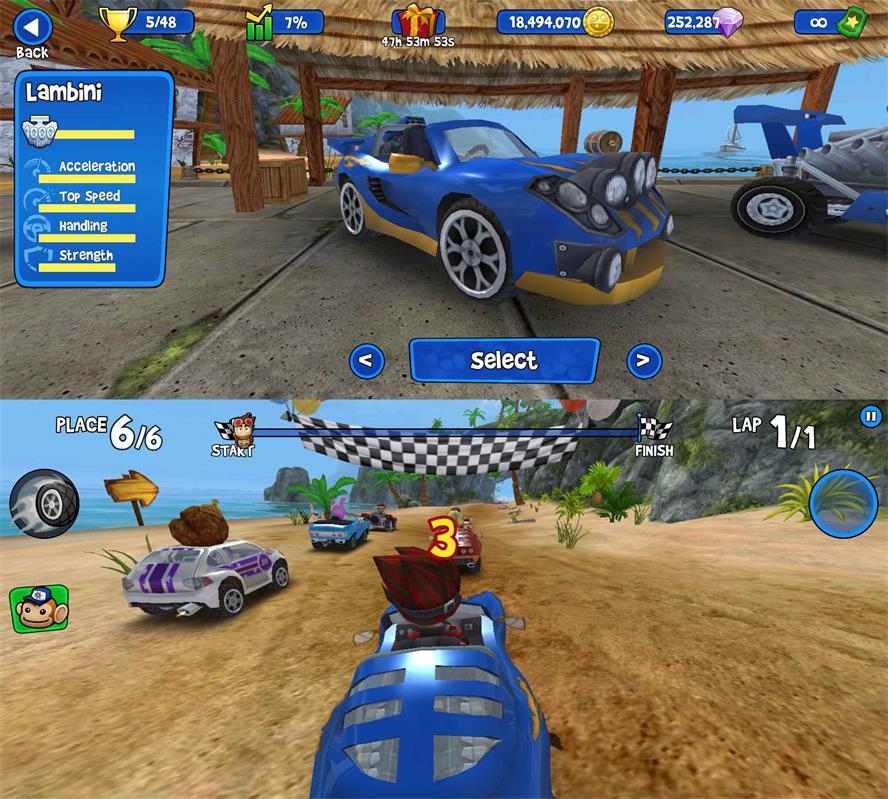 赛车竞技游戏 沙滩竞速-云奇网
