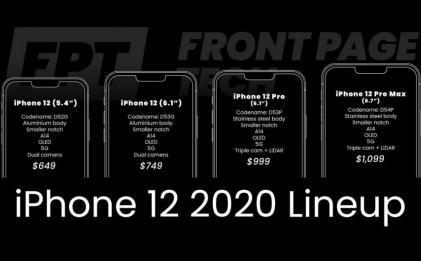 iphone12内部渲染图及售价曝光
