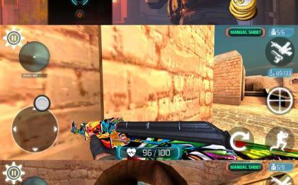 安卓手机第一人称射击游戏 反恐精英2