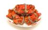 螃蟹蒸到蟹黄流油应该是熟了吧